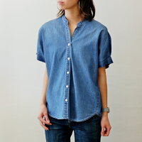 パシオーネ(PASSIONE)バンドカラーゆったりシャツ半袖(pa060)