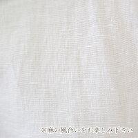 120%linoバンドカラーリネン五分袖シャツ(li006)