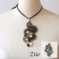 【予約/12月末】ziioネックレスジーオ天然石アクセサリー大振りペンダント型(zi012)