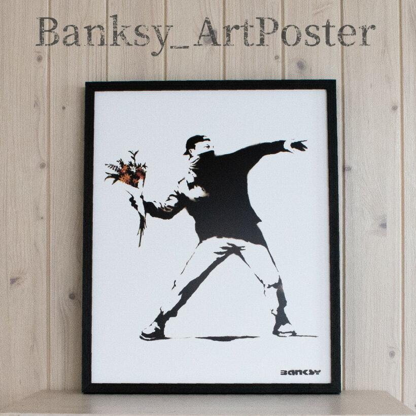 壁紙・装飾フィルム, アートパネル・アートボード 24P5 Molotov Banksy Love is in the Air Flower Bomber
