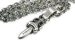 クロムハーツ(Chrome・Hearts)ネックレス・ペーパーチェーン20インチ(約50cm)/ベイルプレーン/#10ダガー