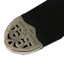 クロムハーツ(ChromeHearts)クラッシック・3ピース・ブラックヘビーレザー/1.5インチ幅