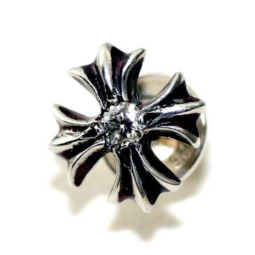 クロムハーツ(Chrome Hearts)ピアス・#2プラススタッド・ウィズ・ダイヤモンド