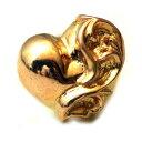 クロムハーツ 財布ならAMSクロムハーツ(Chrome Hearts)ピアス・ハート スタッドK22ゴールド
