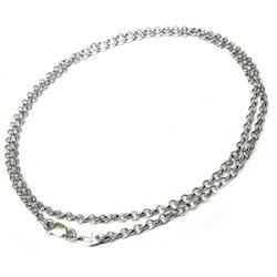 クロムハーツ(ChromeHearts)ネックレス・チェーン・ロールチェーン18インチ(約45cm)