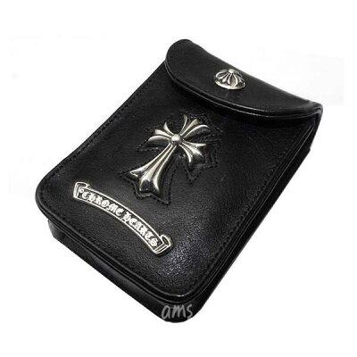 ¥5250以上送料無料クロムハーツ(CHROME HEARTS)ベルトポーチ・シガー・#2/V1・ブラックヘビ...