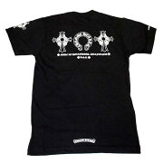 クロムハーツTシャツ(ChromeHearts)半袖・メンズ・ショートスリーブ・C16-2A・ホースシュー&フローラルクロス・ブラック