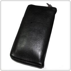 クロムハーツ財布(ChromeHearts)REC・F・ZIP#2・プレーン・ブラック・ヘビーレザー