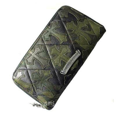 クロムハーツの財布ならAMSクロムハーツ 財布(Chrome Hearts)REC F ZIP#2 キルティングセメ...