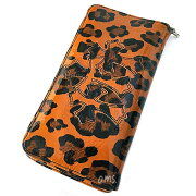 クロムハーツ財布(ChromeHearts)ウォレット・REC・F・ZIP#2・3セメタリークロスパッチーズ・パテントレザー・レオパード(クロム・ハーツ)(長財布)