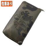 クロムハーツ 財布(Chrome Hearts)REC・F・ZIP#2・3セメタリークロスパッチ・タンクカモ・ヘビーレザー(メンズ)(クロム・ハーツ)(長財布)