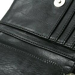 クロムハーツ財布(ChromeHearts)ジョーイブラックヘビーレザーウォレット(メンズ)