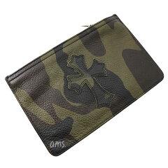 クロムハーツ財布(ChromeHearts)ウォレットジッパーチェンジパース#2タンクカモレザーw/セメタリークロスパッチ