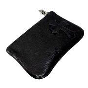 クロムハーツ・財布(ChromeHearts)ジッパーチェンジパース4×5パイピングCEMEブラック・レザーウォレット(メンズ)(クロム・ハーツ)(長財布)