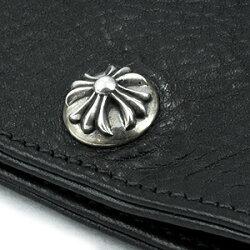 クロムハーツ財布長財布二つ折り財布メンズ(CHROMEHEARTS)ワンスナップクロスボタンBLKヘビーレザーウォレット(送料無料クロム・ハーツウォレット小銭入れメガネバッグ)