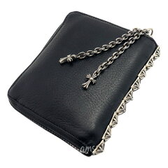 クロムハーツ財布(ChromeHearts)3サイドジップブラック・ヘビーレザーウォレット(メンズ)(クロム・ハーツ)(長財布)