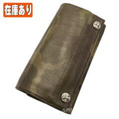 クロムハーツ財布(ChromeHearts)ロングウォレット・クロスボタン・タンクカモ・レザー(カモフラ)(クロム・ハーツ)(長財布)