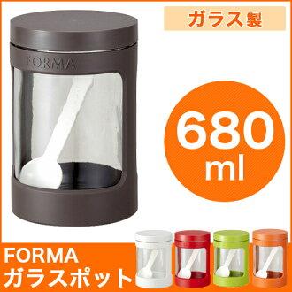 調味罐玻璃罐貯存容器 680 毫升 ASVEL 布朗茶 asbel 變型變型完全包裝與密封