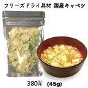 キャベツ 単品 フリーズドライ スープ みそ汁 具材 調味料 アミュード 大容量(45g)