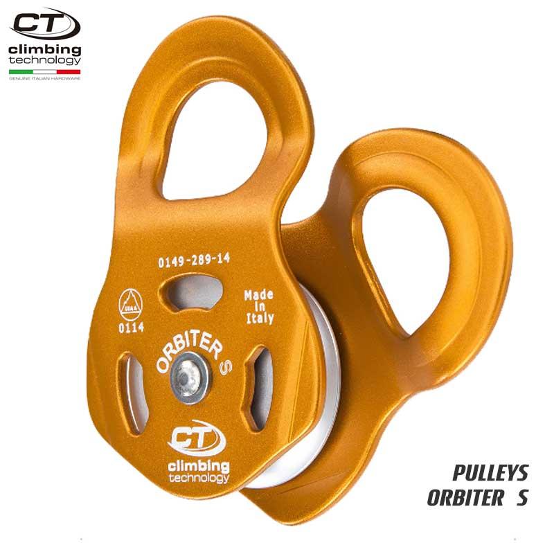 クライミングテクノロジー(climbing technology)(イタリア) シングルプーリー 「オービター S」 ORBITER S    ツリークライミング ロープ登高 レスキュー 下降
