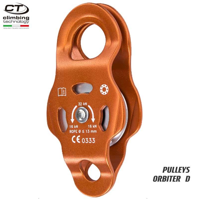 クライミングテクノロジー(climbing technology)(イタリア) シングルプーリー 「オービター D」 ORBITER D  | ツリークライミング ロープ登高 レスキュー 下降