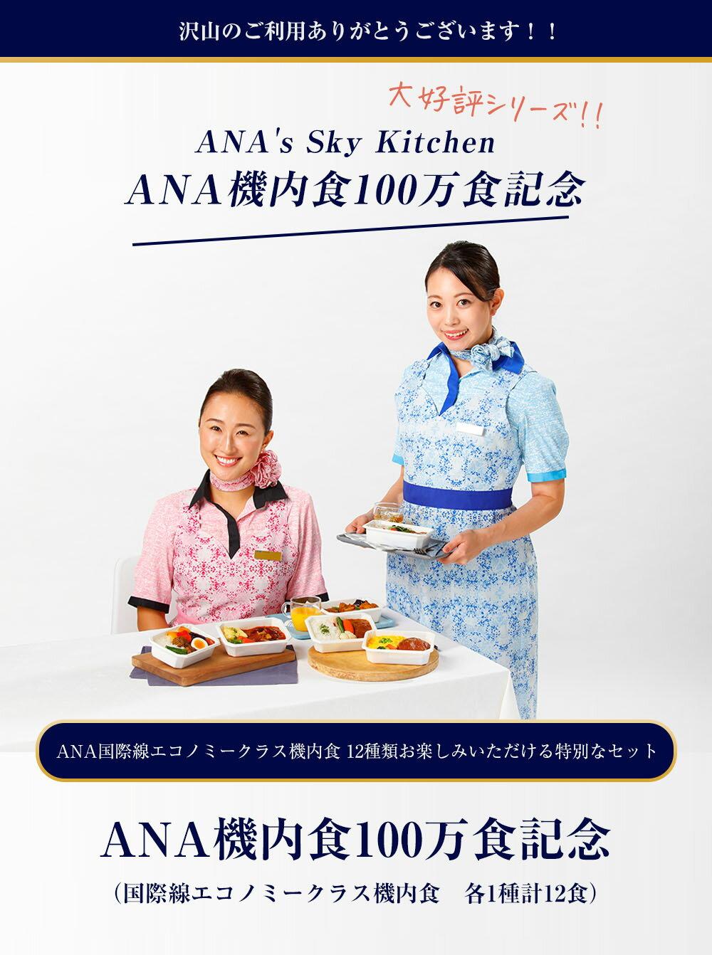 【ANA'sSkyKitchen】ANA機内食100万食記念(国際線エコノミークラス機内食各1種計12食)12個入り冷凍食品お弁当お取り寄せグルメ温めるだけ簡単時短洋食和食時短ごはんanaアナ