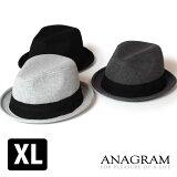クーポン対象 ANAGRAM アナグラム ワッフル サーマルハット 中折れハット 大きいサイズ キングサイズ 帽子 F56cm〜58cm XL59cm〜61cm メンズ レディース