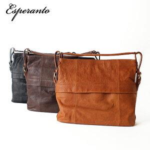 クーポン対象 エスペラント esperanto イタリアレザー ショルダーバッグ トートバッグ 4wayバッグ メンズ レディース 鞄 かばん カバン