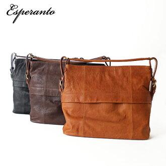 Esperanto Esperanto Italy leather shoulder bag tote bag 4 way bag mens Womens Bag satchel bag 130206 _ free fs3gm130206_point20131101 Manager gigantic Oceana!