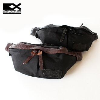 ■ Butler Verner Sails mens ladies Cordura nylon body bag hip bag waist bag cowhide leather comes with バトラーバーナーセイルズ bag satchel bag 130206 _ free fs3gm130206_point 10P28oct13