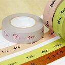 マスキングテープ3色セット(曜日・数字)