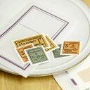外国の切手のよう!貼って楽しむ!【日本製】倉敷意匠計画室 切手シール(水のりタイプ)6pcs