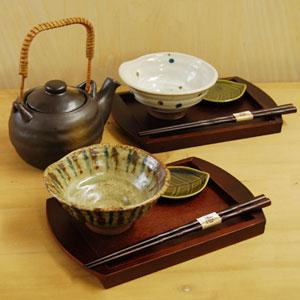茶碗や箸、急須、トレー、小皿まで揃う!ペアお茶漬けセット