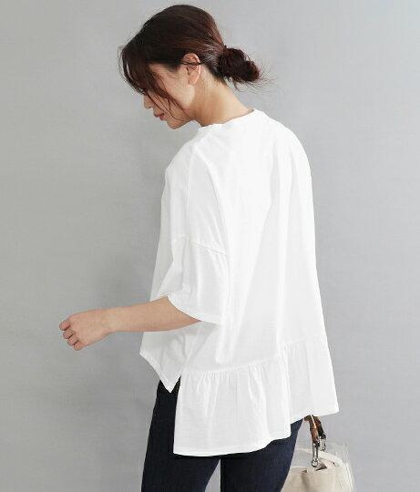 バックフリルTシャツ