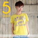 CUBE SUGAR 32/-リサイクル天竺パウダー加工SAMZOSEプリントクルーTシャツ(5色) 【レディース】【キューブシュガー】