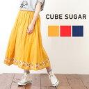 4/9 20:00start お買い物マラソン【40%OFF】CUBE SUGAR ボイル刺繍ギャザースカート (3色)