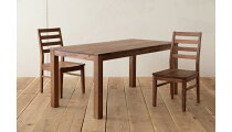 天然木を贅沢に使用し、機能性とデザイン性を両立したスタイリッシュなダイニングテーブル