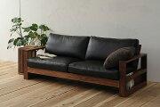 天然木を贅沢に使用し、機能性とデザイン性を両立したスタイリッシュなウッドフレームソファ