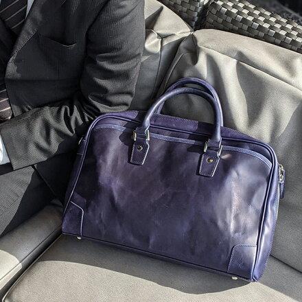プルアップレザービジネスバッグ