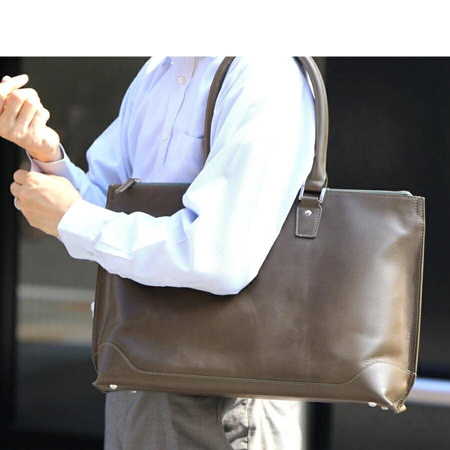 【再々々々入荷】本革 トートバッグ ビジネストート ビジネス トート レザー 革 軽い 銀付き 肩掛け A4 大きい 大きめ メンズ バッグ メンズバッグ 吟面 銀面 コスパ 革製品 フルグレイン 機能性 使い勝手 カバン 鞄