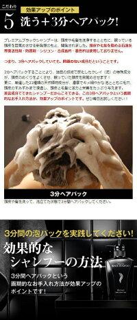 【楽天ランキング第1位!】男のヘアケア対策に!頭皮・毛髪のお悩みにおすすめのスカルプシャンプー!!プレミアムブラックシャンプー【男性メンズシャンプーノンシリコンアミノ酸系薄毛抜毛ふけかゆみの予防オススメギフト防止人気黒】