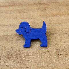 [とっても軽く、どこにでも付けられる木製ブローチ]CARSTENS木製ブローチ「犬」