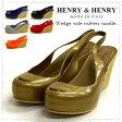 【HENRY&HENRY/ヘンリーヘンリー】とびきり可愛いラバーサンダルが届きました◎ジュート/厚底/ウェッジソールラバーサンダル●メール便不可●(レディース サンダル おしゃれ かわいい シューズ 靴 ウェッジ ウェッジソール ウエッジ ウエッジソール)