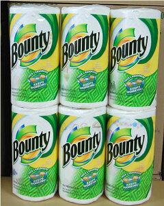 バウンティ ペーパータオル ファンプリント 6袋セット Bounty キッチンペーパーは大判タイプで...