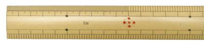 竹尺(ものさし)(1.5M)ハトメ穴付