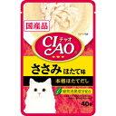 いなば CIAOパウチ ささみ ほたて味 40g×★16個★ IC-205