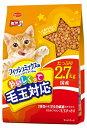 日本ペット ミオおいしくって毛玉対応 フィッシュミックス味 2.7kg