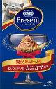 アンディーマーブルで買える「日本ペット コンボプレゼント キャット レトルト まぐろとかつお カニカマ添え 40g PNR-3」の画像です。価格は73円になります。