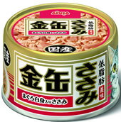 【月間特売】アイシア 金缶ささみ まぐろ白身入りささみ 80g GCC-2