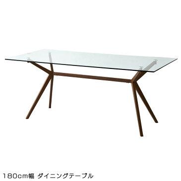 29日時間限定 ポイント10倍 ダイニングテーブル 長方形 四角 テーブル テーブルのみ 幅180cm 6人掛け 六人用 ダイニング 単品 ガラステーブル 強化ガラス スチール スチールフレーム モダン テーブル モダン おしゃれ 北欧 食卓 食卓テーブル